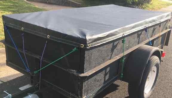 Black 18 oz vinyl tarps