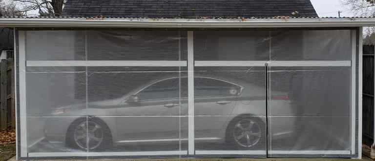 Car port wall covering
