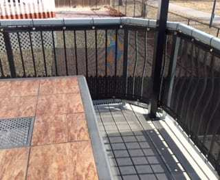 Mesh screen used on deck