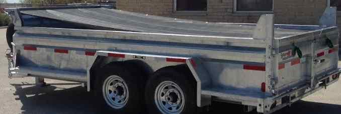 Dumper trailer tarp