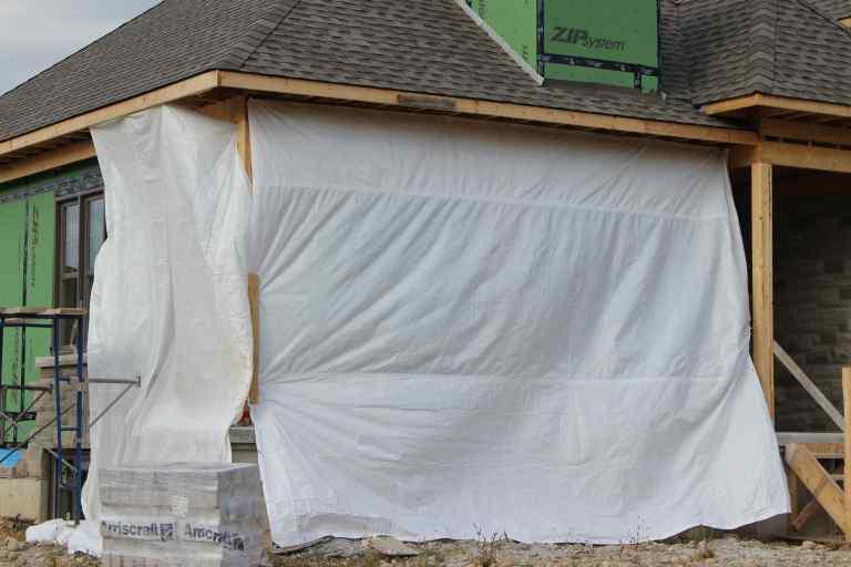 Fire Retardant Construction Tarps