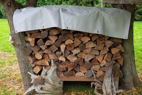 Firewood tarps