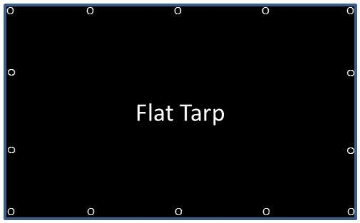 Flat tarp with grommets