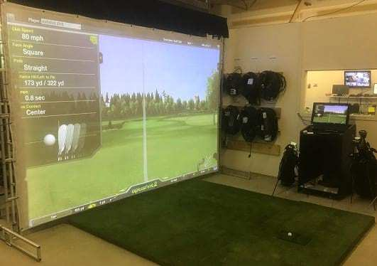 Golf projection screen