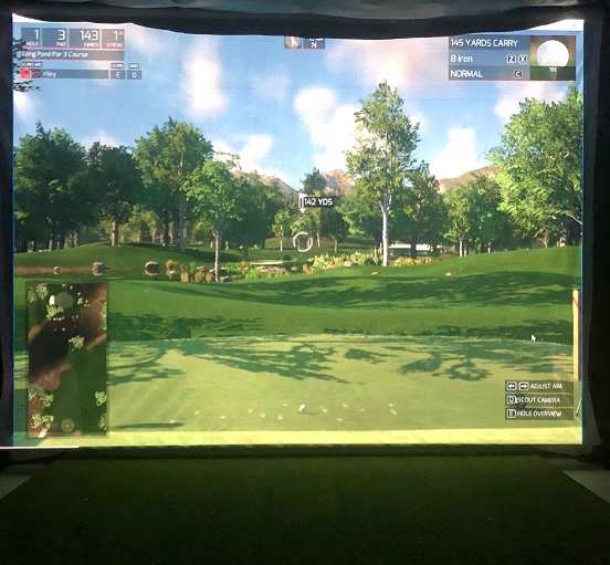 Golf Simulator Screen out of sawdust mesh