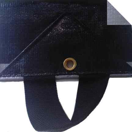 6.2oz Hay Tarps with dual fastener system