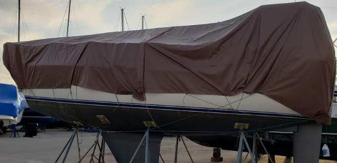 Rectangular boat cover