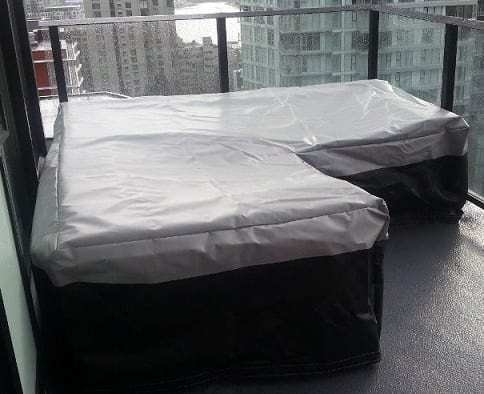 Outdoor furniture with waterproof covering