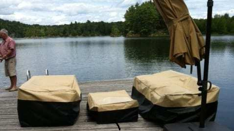 Outdoor breathable furniture covers
