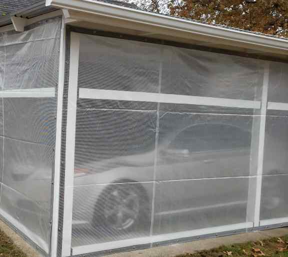 Reinforced clear tarps