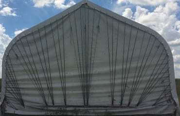 Shed cover end enclosure