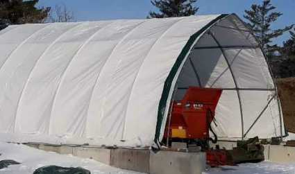 Shed with open ends