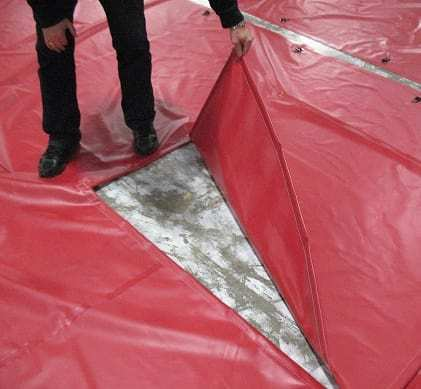 Tarp with access opening
