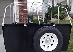 Frame for a utility trailer