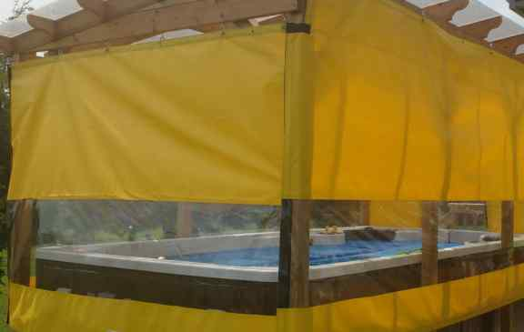 Tarps with window panels